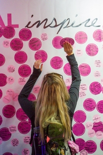 pink sticker wall 2013 Atlanta Susan G. Komen 3-Day Breast Cancer Walk